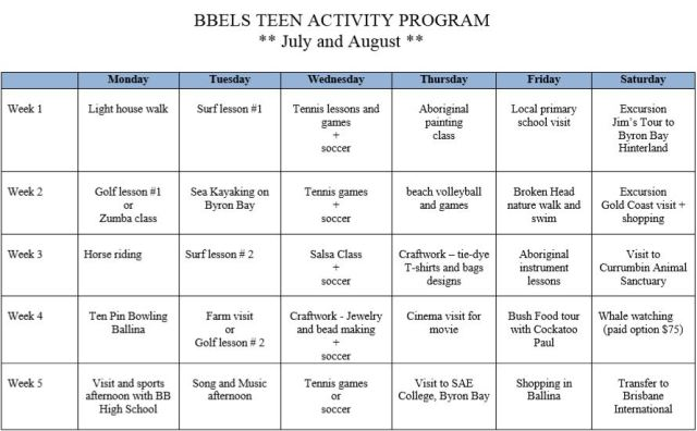 Teen Activity Program
