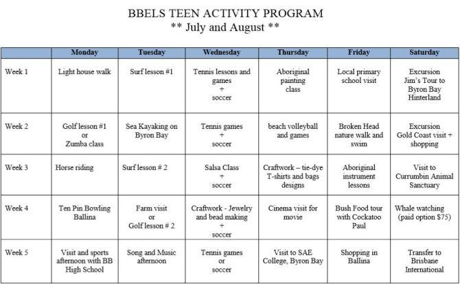 Teen Activity Program