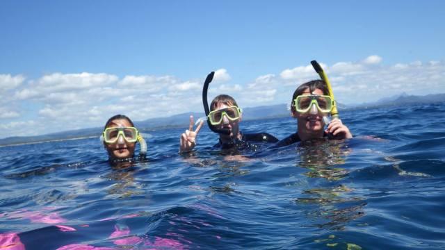Teen snorkelling photo
